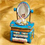 Limoges Louis XV Vanity with Mirror Box