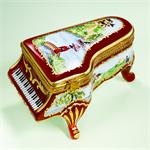 Limoges Japanese Garden Piano Box